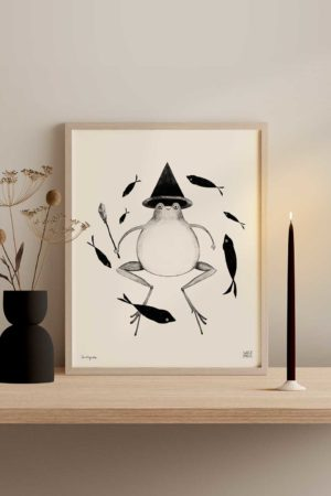 Frog Witch Art Print