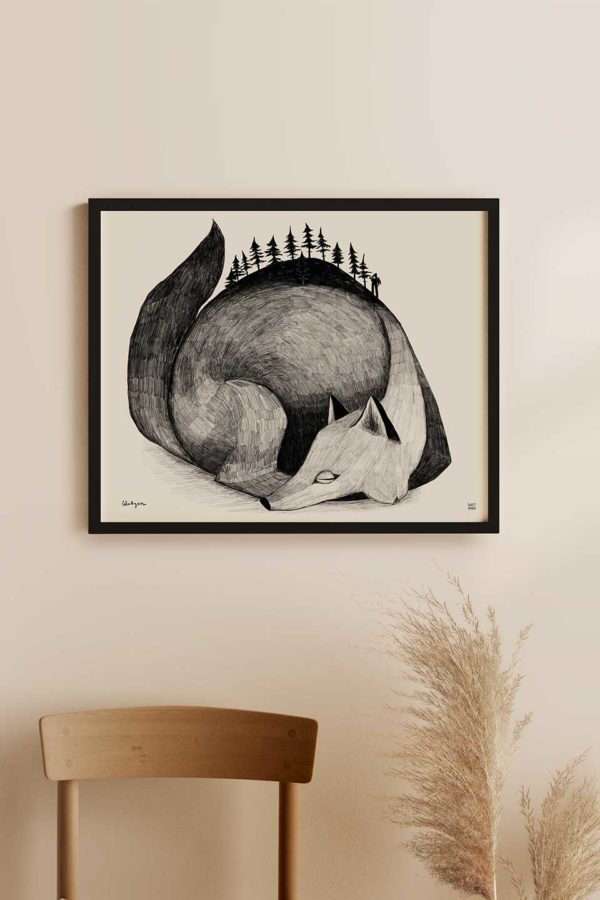 Haunted Forest Wolf Art Print